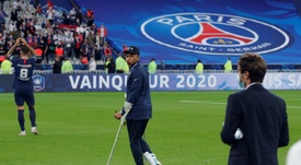 Kylian Mbappe could miss UCL run after right ankle sprain in French Cup win. AFP