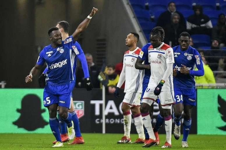 Les Lyonnais battus à domicile par Strasbourg. AFP