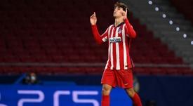 Simeone evitó cualquier comparación entre Messi y Joao Félix. AFP
