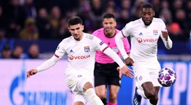 Houssem Aouar también habría entrado en la agenda del Arsenal. AFP