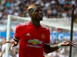 Pogba a fait son grand retour sur les pelouses anglaises. AFP