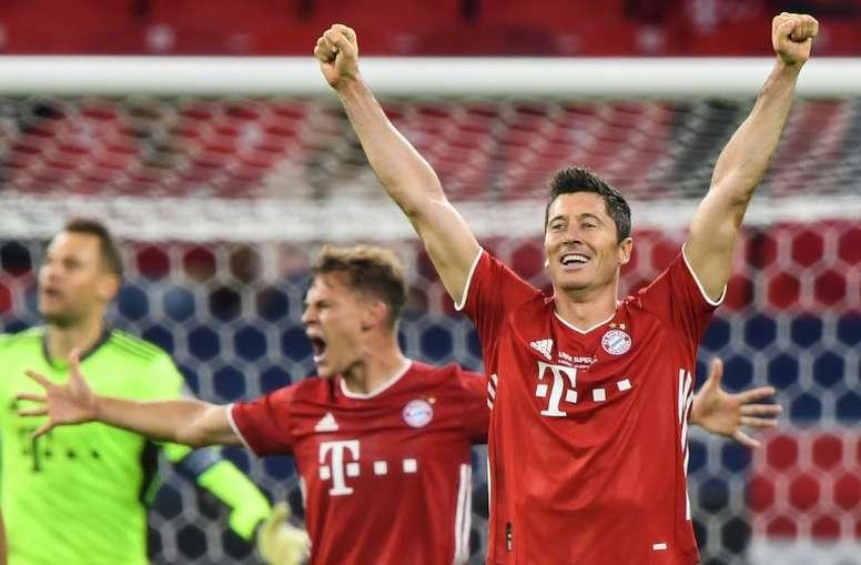 Robert Lewandowski, o melhor camisa 9 do ano em escolha de revista inglesa. AFP