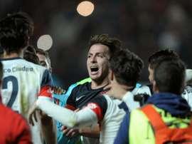 Les joueurs de San Lorenzo en liesse après avoir décroché la finale du Championnat dArgentine 2016, le 22 maià Buenos Aires