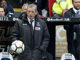 L'entraîneur de Crystal Palace Roy Hodgson suit le match face à Southampton. AFP