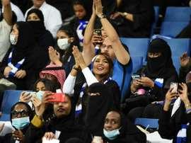 Des spectatrices saoudiennes lors dun match entre Al Hilal et le club émirati dAl Ain. AFP