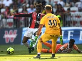 Les compos probables du match de Ligue 1 entre Nice et Montpellier. AFP