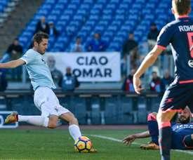 Lulic foi o autor do único gol do desafio. AFP