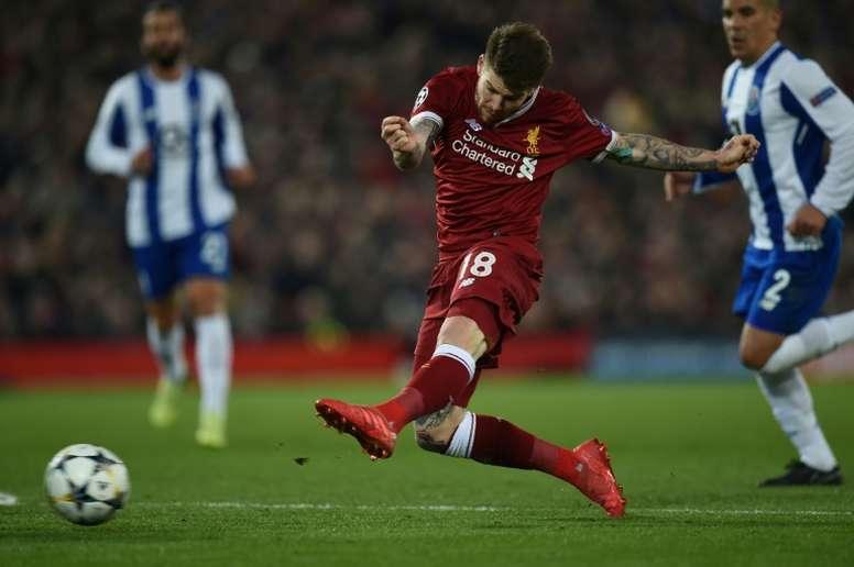 Alberto Moreno souhaite quitter Liverpool au mercato d'hiver. AFP