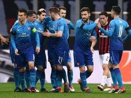 O Arsenal bateu o Milan por 0-2. AFP