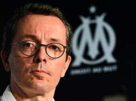 Le président de l'Olympique de Marseille  peut compter sur le soutien des syndicats des clubs. afp