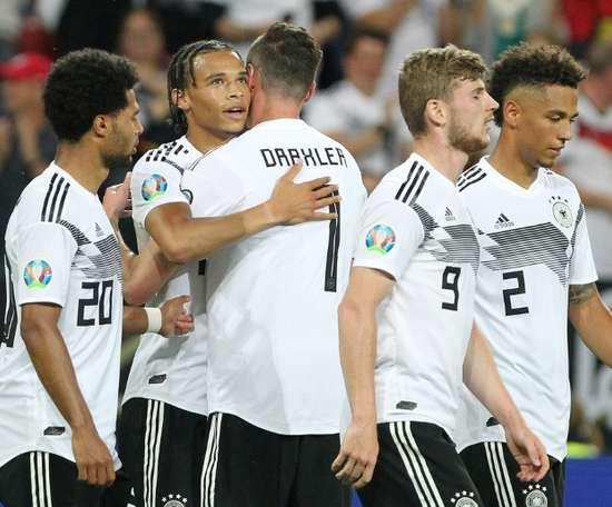 Les Allemands sans pitié avec l'Estonie. AFP