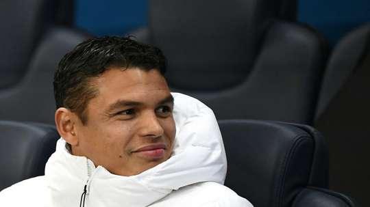 O incerto futuro de Thiago Silva no PSG. AFP