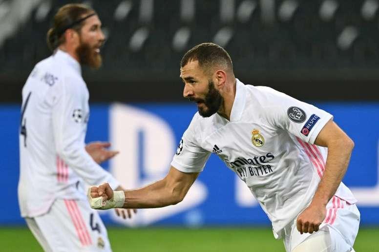 A Benzema le pasó lo mismo que a Vinicius, pero en el Lyon. AFP