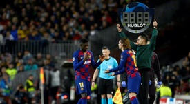 En el United no se plantean echarle el lazo a Dembélé. AFP