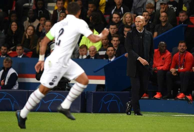 El Madrid recibe al PSG. AFP