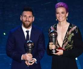 Rapinoe estime que Messi et Ronaldo pourraient faire plus contre le racisme. AFP