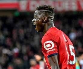 O defesa luso colocou o Lille de volta no caminho das vitórias. AFP