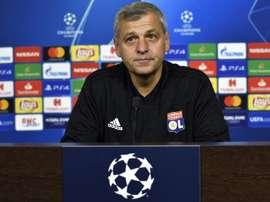 L'entraîneur lyonnais Bruno Genesio. AFP