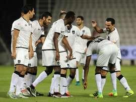 Xavi Hernandez et son club d'Al-Sadd contre Al-Rayyan. AFP