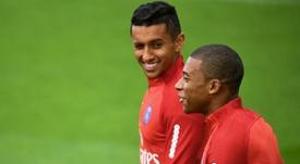 Marquinhos tentou explicar as palavras de Mbappé, mas sem sucesso. AFP