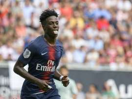 Timothy Weah could push his way in to the PSG team this season. AFP