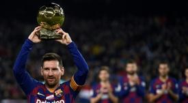 Un Balón de Oro para todo el barcelonismo. AFP
