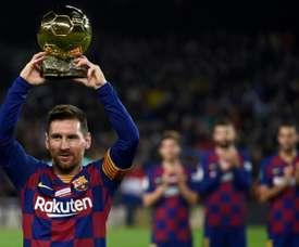 Uma Bola de Ouro para o barcelonismo. AFP