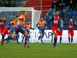 Longtemps mené et réduit à dix, Dijon a arraché le match nul sur la pelouse de Caen. EFE