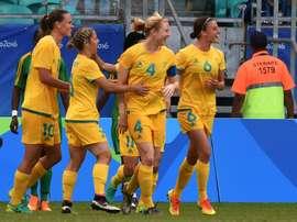 L'équipe d'Australie, lors des Jeux olympiques à Salvador de Bahia, le 9 août 2016. AFP