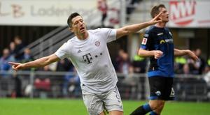 10 buts en six matchs, nouveau record pour Lewandowski. AFP