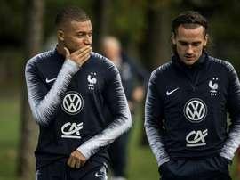 Bleus: entraînement spécifique pour Mbappé et Hernandez. AFP