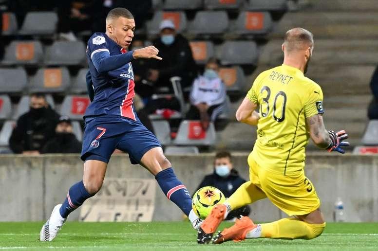El PSG lo bordó con una goleada ante el Nîmes. AFP