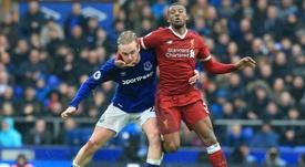 Les compos probables du match de Premier League entre Liverpool et Everton. AFP