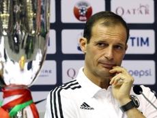 L'entraîneur de la Juventus Turin Massimiliano Allegri en conférence de presse en Doha. AFP