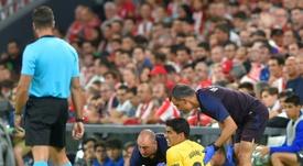 Blessure confirmée pour Suarez. AFP