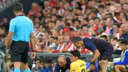 Impossible de jouer contre le Betis pour Suarez. AFP