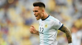 Martinez 'happy and excited' after first Argentina hat-trick. AFP