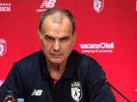 L'entraîneur de Lille Marcelo Bielsa. AFP