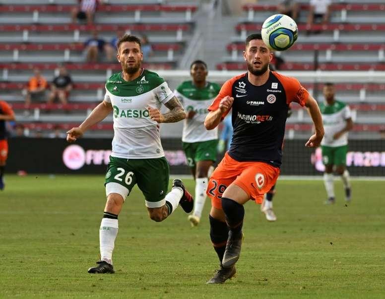 Mathieu Debuchy, auteur de 2 buts contre Montpellier en demies des EA Ligue 1 Games. AFP