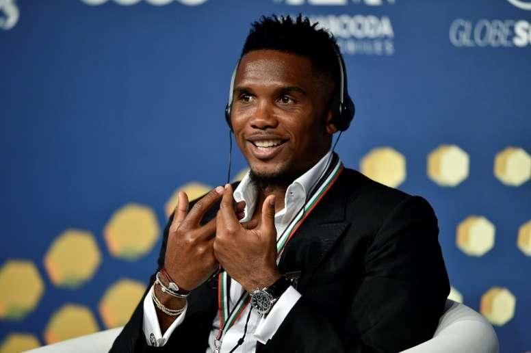 Samuel Eto'o habló de su carrera y de Ansu Fati. AFP