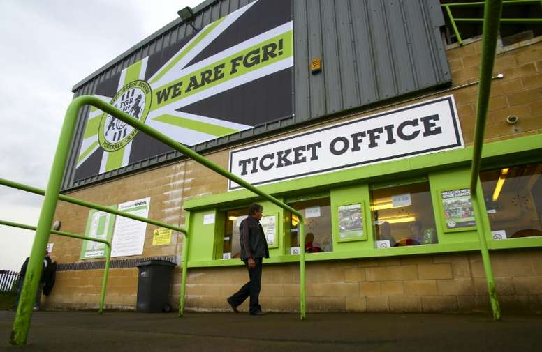 El Forest Green Rovers seguirá en la League Two por tercera temporada consecutiva. AFP/Archivo