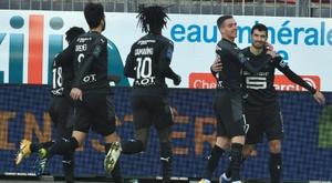 Rennes renverse Brest et ne lâche pas l'Europe. AFP