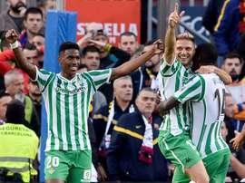L'exploit des joueurs du Real Betis Séville. AFP