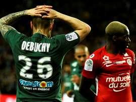Saint-Etienne perd face à Montpellier. AFP