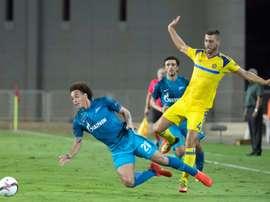Sin goles en uno de los encuentros de la jornada en Israel. AFP