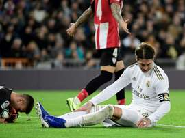 Ramos has not recovered in time to face Sevilla. AFP