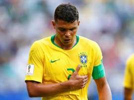 Thiago Silva fica de fora da Copa América. AFP