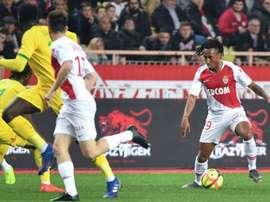 e milieu de terrain de Monaco Gelson Martins. AFP