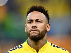 Neymar avant le match amical face au Qatar. AFP