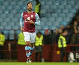Joleon Lescott lors du match Aston Villa-Crystal Palace au Villa Park de Birmingham. AFP